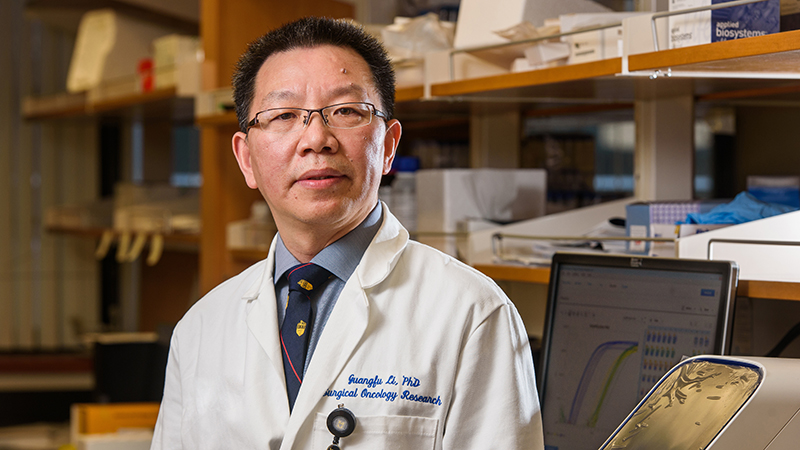 principal investigator Guangfu Li, PhD, DVM, Department of Surgery and Department of Molecular Microbiology and Immunology