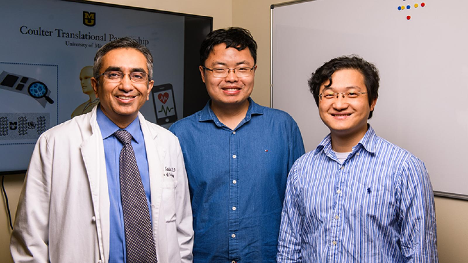 Photo of Dr. Gautam, Dr. Lin and Dr. Yan