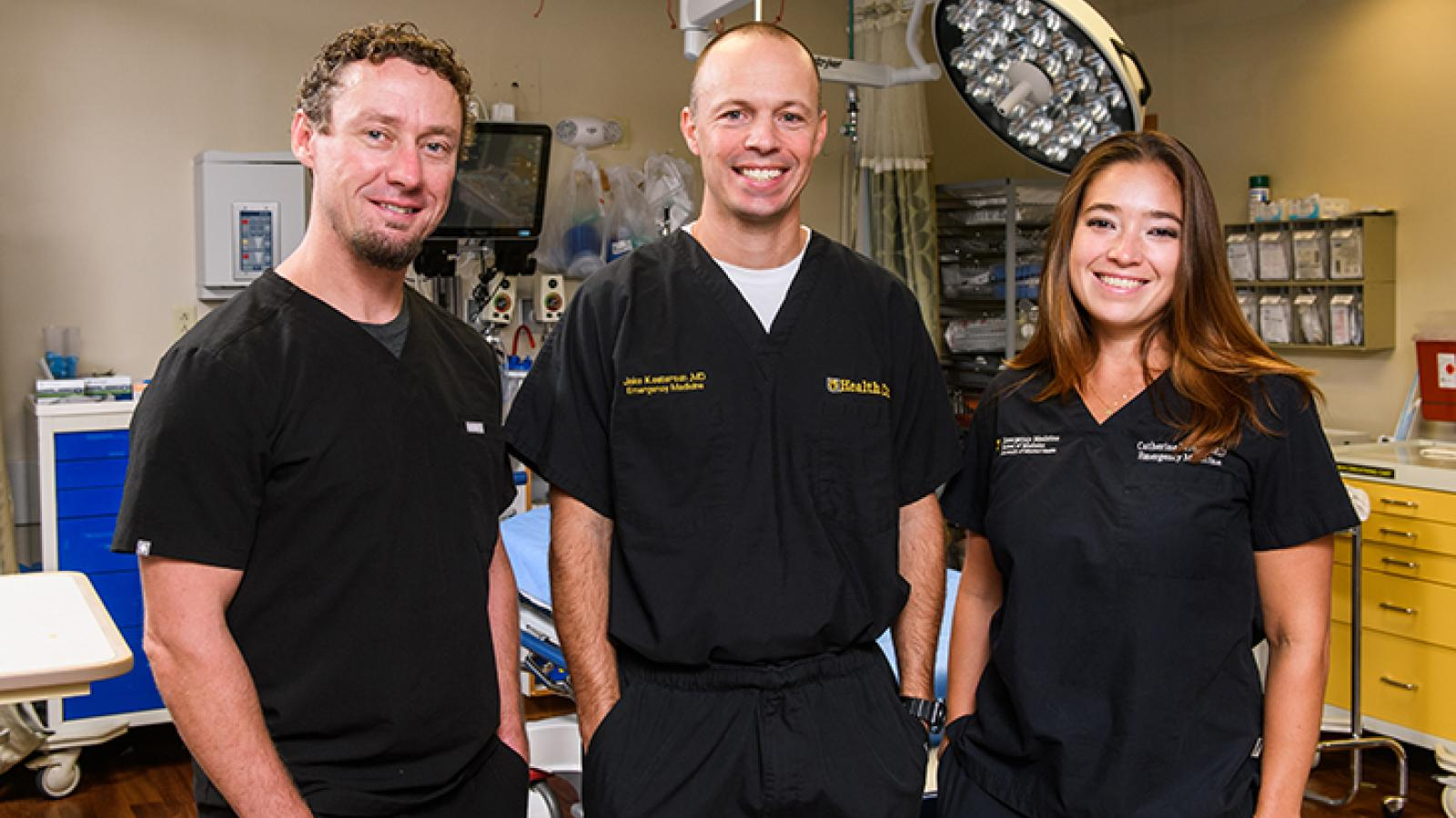EM Dr. Shea, Dr. Kesterson and Dr. Parker