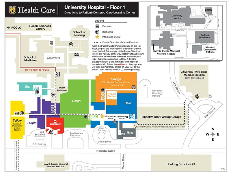 Map of Patient-Centered Care Learning Center